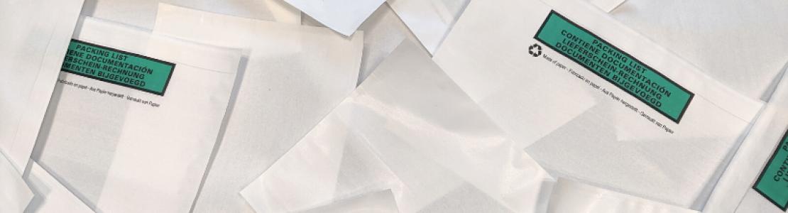Papieren paklijstenveloppen