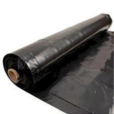 Folie LDPE 100cm 80my zwart roldiameter 250mm/6mnd UV bestendig