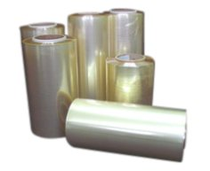 1200 m Maschinenfolie PVC, 35 cm transparent, 14 my, Kern 76 mm
