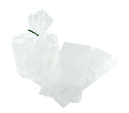 Polyzak LDPE 20/(2x4)x50cm 20my, zijvouw, transparant