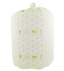 Bio afvalzak 41x54cm 20ltr 18my, lichtgroen met kiemplant logo's