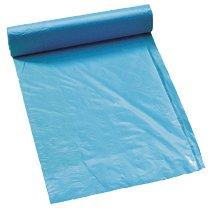 Afvalzak MDPE 80x110cm 20my blauw, 5% recyled