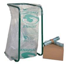 """9 Rol./6 St. """"Knapzak"""" (Kunststoffverpackungssammelsystem in der Benelux, vergleichbar mit dem grünen Punkt) LDPE 70/32,5x240cm 1000 l 42my KZ10-54"""