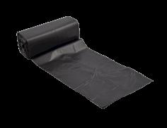 Afvalzak HDPE 46x55cm zwart 7my, 10 % recycled
