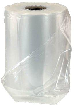 Halfbuisfolie LDPE 100cm 40my transparant open 200cm stroef