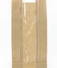 2000 Obstbeutel Natronkraft 16/5x29cm 2 Pfd, 40 g, +Fenster 6 cm, Braun
