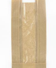 Sachets à fruits kraft kalim 2 livres 18+2x7,5x31cm avec fenêtre 7cm PET 19my