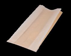 500  Imbisstüten Ersatz 14x(2x3)x33cm Braun + halbtransp. Papierfenster