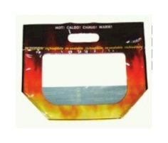 500 Geflügelbeutel 23x23x10cm 5-farbig Druck in 4 Sprachen