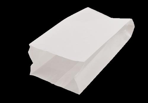 Broodzak 1/2kg klein lang/rond 17,5+(2x5,25)x38cm gebleekt kraft