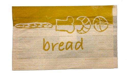Broodjeszak gebleekt kraft 2 pnd 16/5x32cm 45grs De Luxe (Bread)
