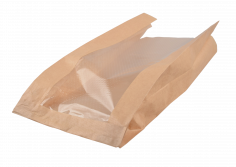 Sac à pain en papier+F 18+7x39cm Kraft uni marron 35grs + tampon FSC