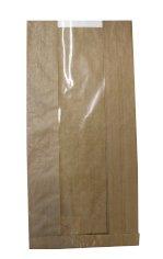 Vensterzak kraft 20/5x43cm 40grs bruin + 10gr PE coating