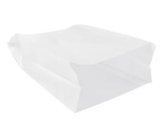 Sac à pain papier+paraffine 18x9,5x46cm blanc, grande pain longue