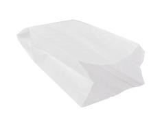 Sac à pain papier+paraffine 21,5x11x41cm blanc, grande pain rond