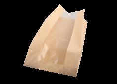 Broodzak 1/1 brood PaperWise + PLA venster 16(2x5)x48cm