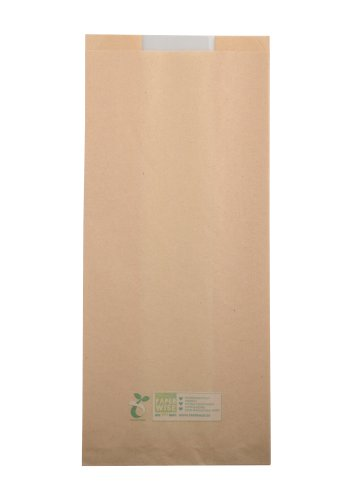 Broodzak 1/2 brood PaperWise + PLA venster 16(2x5)x36cm