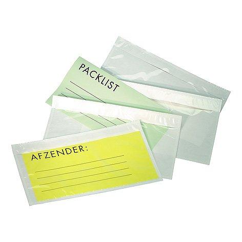 Paklijst envelop 175x125mm (A6) standaard transparant