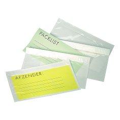 Paklijst envelop 225x165mm (A5) transparant met speciale siliconenlaag
