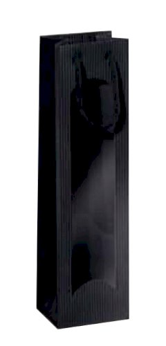 1-fleszak 100x80x360mm Focus zwart met venster