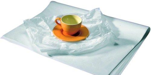 Vel zijdepapier gebleekt 50x75cm 22 grs wit, zuurvrij