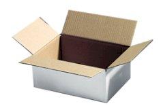 Carton ondulé 375x375x140mm blanc fefco 0201 BC-ondulé + poignées