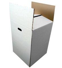 Barils 460x460x620mm blanc marbre ondulé BC non imprimé avec poignées