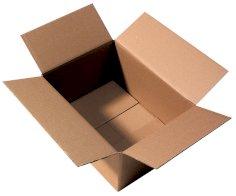 Boîtes carton ondulé 250x185x100mm brun, ondulé EB, fefco 0201, resy