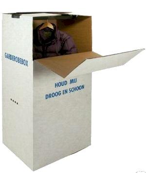 Garderobebox 600x520x1320mm wit, 'Houd mij droog en schoon'