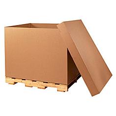 Boîte palette 1070x650x750mm brun brun, ondulé BC, F0201