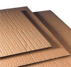 Wellpappeplatte 1200x800mm braun B-welle recyceltes material, Fefco 0110