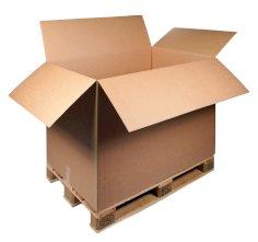 Boîtes palettes carton ond. 785x585x600mm brun, ondulé BC, Fefco 0201