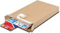 Boîtes colis postal Packbox 165x46x240mm fermeture adhésive+perforation de déchirement