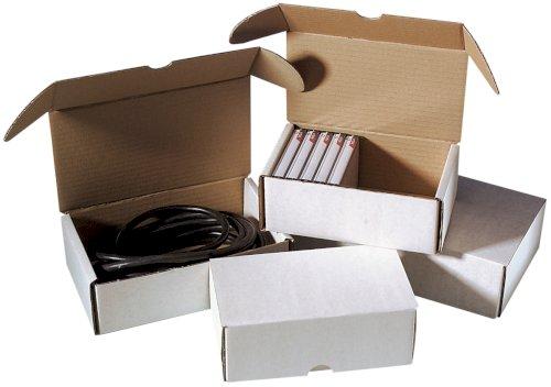 Postpakketdoos 280x220x80mm wit B-golf, fefco 427