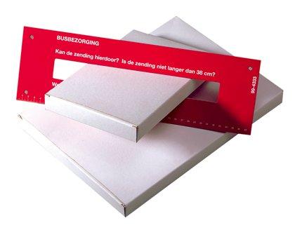 Brievenbusdoos 230x30x350mm (buitenmaat) wit