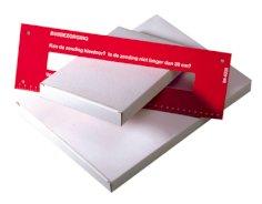 Cartons de format boîte aux lettres A5 160x28x255mm blanc/brun