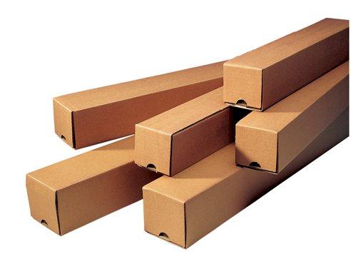 Koker vierkant 80x80x1000mm bruin 3mm, F0210, getaped