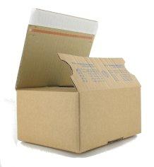 Btes Pack fix 160x130x70mm brun avec bande adhésive & fond autolock PF10