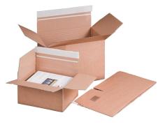 Boîte en carton ondulé 213x153x109mm F0701, onde B, marron