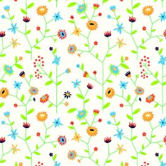 Dessinpapier graspapier 50cm Bloemen