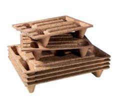 Holzfaser-Paletten, 80 x 120 cm 900 kg