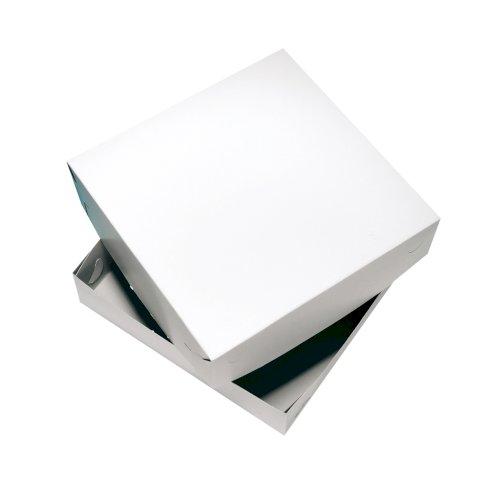 Zwanenhals taartdoos 20x20x8cm blanco