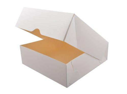 Duplex gebaksdoos 30x30x5cm Topbox 325gr, wit, gelakt