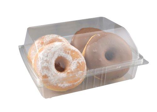 Gebaksdoos APET 205x155x80mm transparant tbv donuts