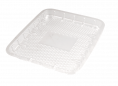 Vleesw. schaal PET 19x15,5x1,5cm transparant