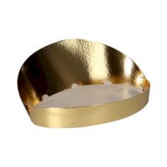 Fruitschaal met achterwand 43cm goud/wit