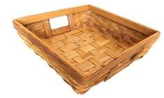 Bambuskorb Quadrat T30x30cm B26x26cm H8cm
