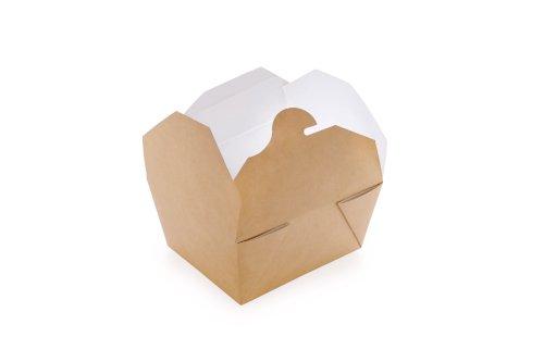 ECO take away fold box Kraft 168x132x53mm bruin 900ml