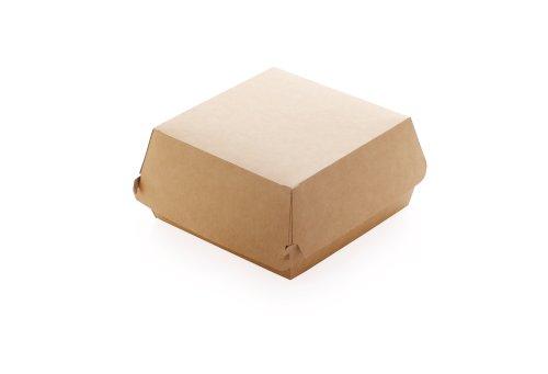 ECO take away burger box Kraft 140x140x70mm bruin L