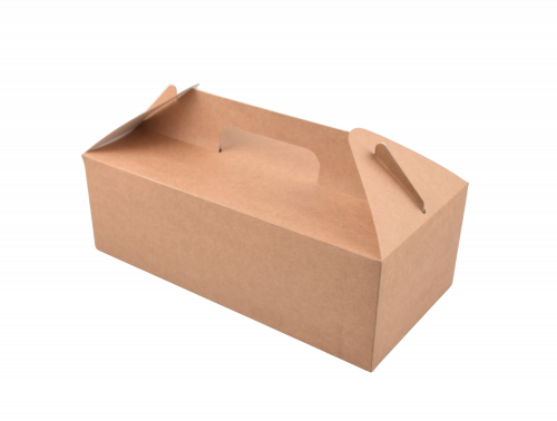 ECO take away menu box Kraft 288x142x98mm bruin + handvat 4000ml